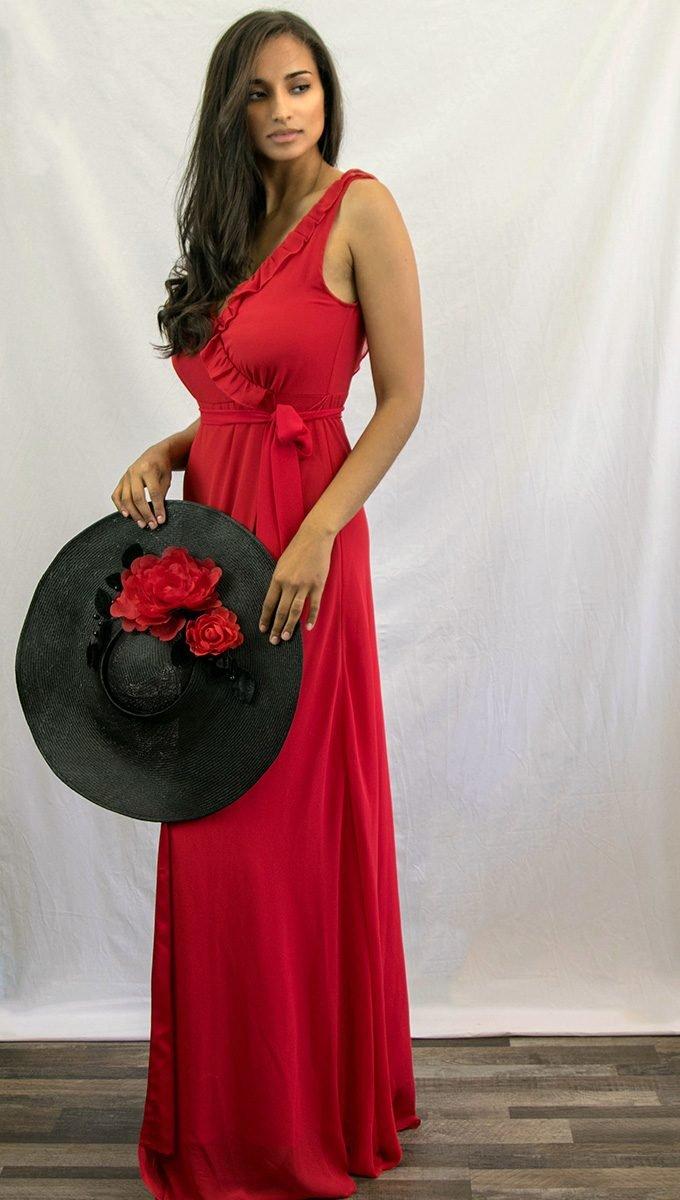 Vestido Rojo Volantes